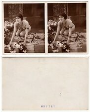 Nackte Frau weiblicher Akt Chain Lady Female Girl nude Art Deco Stereo PH c.1925