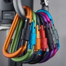 4x Aluminum Carabiner D-Ring Key Chain Keyring Clip Snap Hook Karabiner Camping