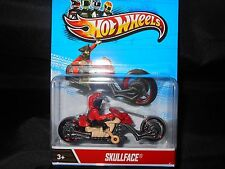 HOT WHEELS MOTORCYCLES SKULLFACE  HOTWHEELS RED/TAN w/REMOVABLE RIDER VHTF RARE