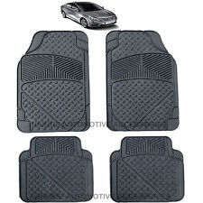 4PC PREMIUM FLEX  BLACK RUBBER FLOOR MAT SET for HYUNDAI ELANTRA ACCENT XG350