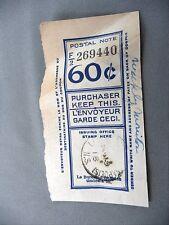 Postal Note Cancel Reciept WEEKLY MONITOR Newspaper 1918 Nonpartisan Bridgetown