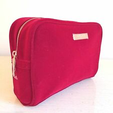 NEW GUCCI Parfums Makeup Cosmetic Bag, Case, Clutch,Handbag Toiletry RED Velvet