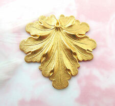 BRASS LEAF Stamping - Jewelry Finding (FB-6037-814)