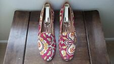 "CUTE! $450 Stubbs and Wootton Needlepoint ""SOUTHWESTERN"" Slippers Loafers Shoes"