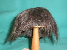 """antique doll wig/ human hair 10.5"""" to 11"""" dark brown/Germany"""