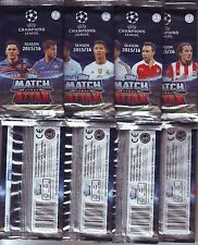 25 SEALED UNOPENED PACKS UEFA CHAMPIONS LEAGUE TOPPS MATCH ATTAX 2015/16