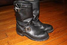 CHIPPEWA 27863  Black Leather Steel Toe Engineer Boots Men's Size 9.5 D