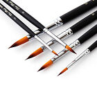 6x Round Pointed Tip Paint Brush Pens for Artist Oil Painting Sightly Acrylic