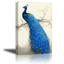 Peacock Tree Canvas Prints Oil Painting Wall Art Hanging Living Room Home Decor