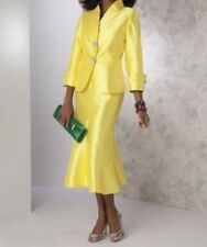 sz 6 Yellow Ibiza Skirt Suit Church Suit wedding special event party  Ashro nwt