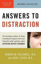 Answers to Distraction by Hallowell M.D., Edward M., Ratey M.D., John J.