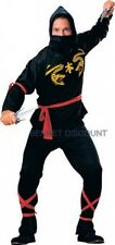 ADULT NINJA MENS FANCY DRESS HALLOWEEN PARTY COSTUME new  1 SIZE