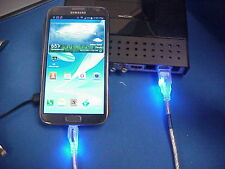 LED USB Charger / Data Cable for Android Smart Phone , 3 Feet long