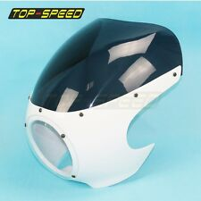 "Classic Drag 5-3/4"" Headlight Fairing Windshield Retro Cafe Racer Motorcycle New"