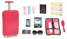 18 Inch Doll Travel Set Luggage Ticket Passport American Girl Accessories New