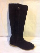 Esprit Black Knee High Suede Boots Size 37