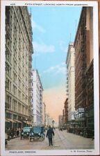 Portland, OR 1920s Postcard: Fifth Street from Morrison/Downtown - Oregon