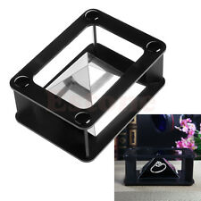 New DIY Smartphone into 3D Holographic Hologram Display Stand Projector Black