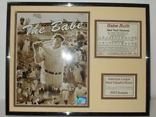 "BABE RUTH ""The BABE"" COMMEMORATIVE PRINT with NY Yankees History and Stats."