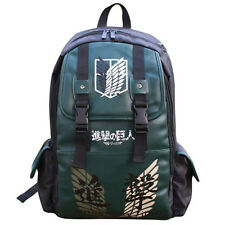 Anime Attack On Titan PU Leather Backpack Boys Girls School Bag Outdoor Fashion