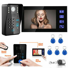 "7"" LCD Wired Touch Video Door Bell Phone Intercom Doorbell Home Security Camera"