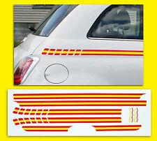 FIAT 500 SPANISCH Flagge Seitenstreifen optik Aufkleber Sticker nicht