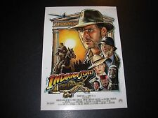 INDIANA JONES Art 5X7 Postcard LAST CRUSADE like poster print robert bruno