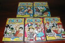 One Piece Collection Vol 1 5 6 8 10 New Anime Dvd Set