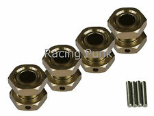 1/8 RC Buggy Truck Car M17 17mm Alloy Wheel Hubs Adapter Stopper Nut TITANIUM x4