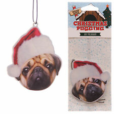 Christmas Pugging Novelty Xmas Car Air Freshener APPLE Fragrance Scent Pug Dog