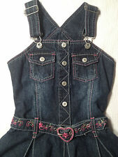 EUC - Girls Beautiful 'Pumpkin Patch' Indigo Denim Dress - Girls Size 6