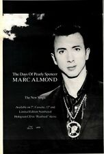 18/4/92 Pgn12 MARC ALMOND : THE DAYS OF PEARLY SPENCER SINGLE ADVERT 10X7""