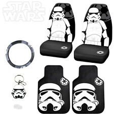 STAR WARS STORMTROOPER 6PC CAR SEAT COVERS MATS AND ACCESORIES SET FOR JEEP