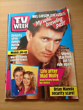 TV Week Mag Nov 1985. Mel Gibson, Anne Tenney, Tony Bonner, Anne Charleston