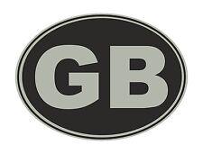 2 x Metallic Silver and Black GB Euro Car Van Lorry vinyl Self Adhesive stickers