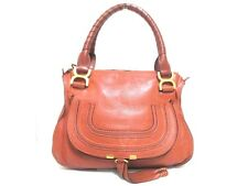 Authentic Chloe Brown Small Marcie 3S0860-161 Leather Handbag w/ Shoulder Strap