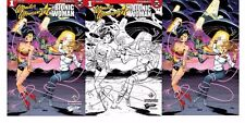 3x WONDER WOMAN MEETS THE BIONIC WOMAN 1 JETPACK EXCL; B&W VIRGIN Pepoy PREORDER
