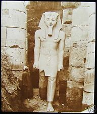 Glass Magic Lantern Slide STATUE OF RAMESES LUXOR C1910 PHOTO EGYPT