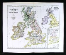 1880 Spruner Map - British Isles 12 Century to the Reformation - England Ireland