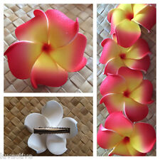 Hawaiian PLUMERIA FLOWER FOAM HAIR CLIP Red Yellow Wedding Luau Prom Bridal NEW