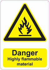 [ 205x290mm ] DANGER - HIGHLY FLAMMABLE | health and safety | signs/stickers