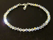 New Crystal AB 925 Sterling Silver Bracelet made with Swarovski Elements