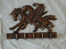 Placa de cobre Caballo Gancho-Abrigo Perchas clave o Tachuela Un Lindo Regalo