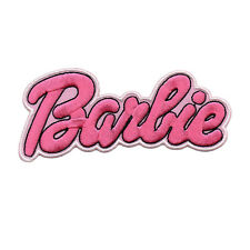BARBIE LOGO IRON ON PATCH ROCKABILILY PUNK CUTE DOLL CARTOON BIG XL EMBROIDERED
