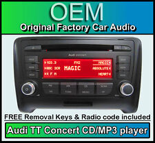 Audi TT CD MP3 player, Audi Concert car stereo head unit with radio code + keys