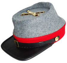 American Civil War Confederate Artillery Style Kepi With Badge Large 58/59cms