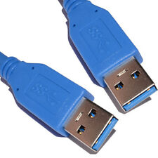 0.5m USB 3.0 SuperSpeed Type A Plug to A Plug Cable Lead Blue 50cm [006957]