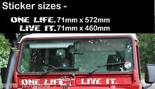 LAND Rover 90 110 Serie 1, 2, 2a, 3 One Life. LIVE IT. AIR VENT PANNELLO ADESIVO
