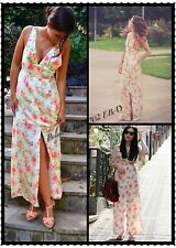 Last 1! Size S NWT ZARA SLEEVELESS LONG V-NECK MAXI FLORAL PRINT DRESS