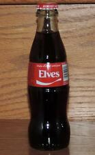 """LE USA HOLIDAY 2015 COCA-COLA """"SHARE A COKE w/YOUR ELVES"""" 8 oz FULL GLASS BOTTLE"""